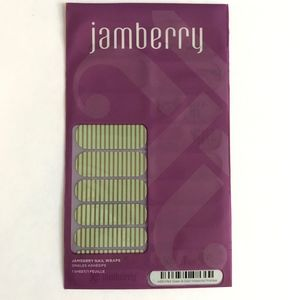 Jamberry Nail Wraps Full Sheet Green & Gold Stripe